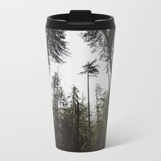 Pacific Northwest Forest Metal Travel Mug
