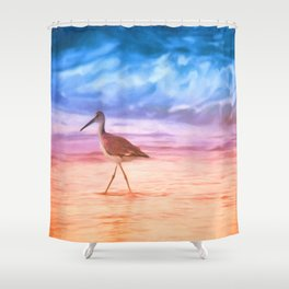 Sunrise Walking Bird Shower Curtain