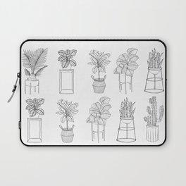 Houseplants Pattern Laptop Sleeve