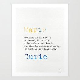 Marie Curie quote Kunstdrucke