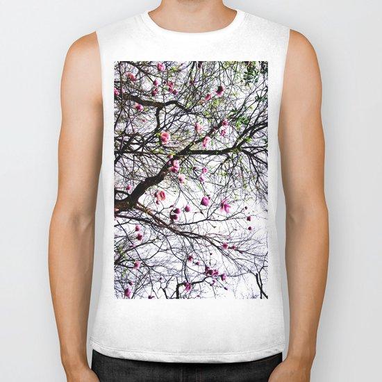 Magnolias Biker Tank