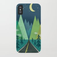 road iPhone & iPod Cases featuring The Long Road at Night by Jenny Tiffany