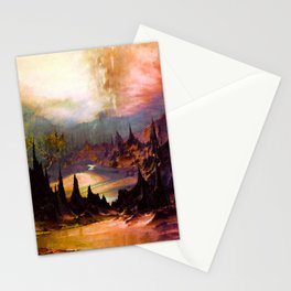 Outlandish peaks and valleys Stationery Cards