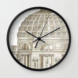 Pantheon Of Rome Wall Clock