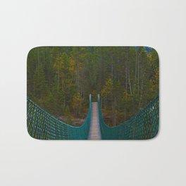 Suspension Bridge along the Berg Lake Trail in British Columbia, Canada Bath Mat
