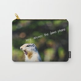 Angry Squirrel Carry-All Pouch