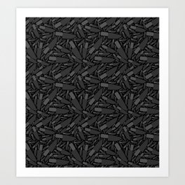 Knife Pattern Art Print