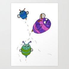 Bees Go Buzz Buzz Art Print