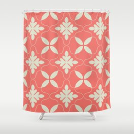 Floral coral - living coral seamless pattern Shower Curtain