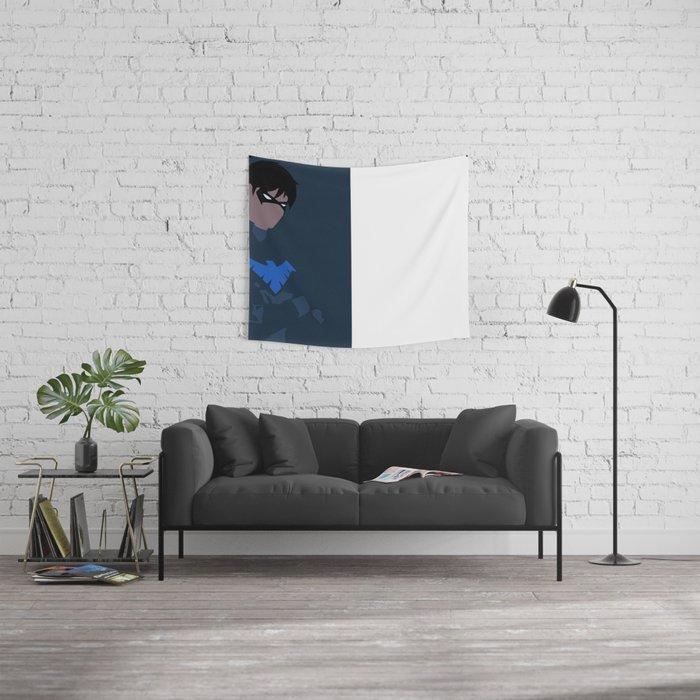 Nightwing Minimalism Wall Tapestry