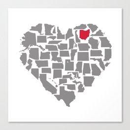 States of Love...Ohio Canvas Print