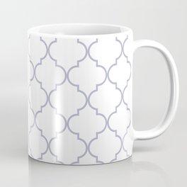 Quatrefoil - white and silver Coffee Mug