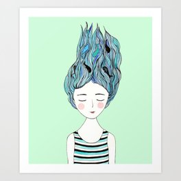 Dreaming of whales Art Print