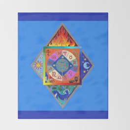 Blue Prophecy Throw Blanket