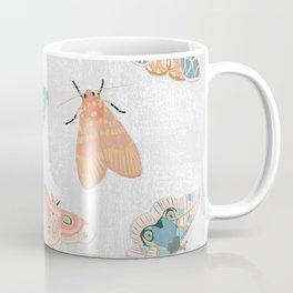Moth Pattern - Pastels - White Coffee Mug