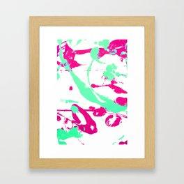 Create a Mess! Paint Splatters Blue and Pink Framed Art Print