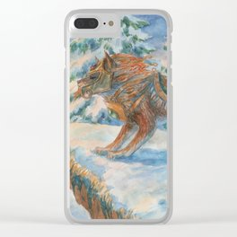 Wild Beast Clear iPhone Case