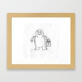 Blob Monster Framed Art Print