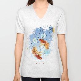 FISH FENG SHUI Unisex V-Neck
