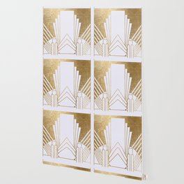 Art Deco design - blonde Wallpaper