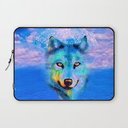 Wolf Moon and the Deep Blue Sea Laptop Sleeve