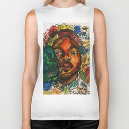 rapper,lyric,smoke,wall art,fan art,music,hiphop,rap,rapper,legend,shirt,print,chancee Biker Tank