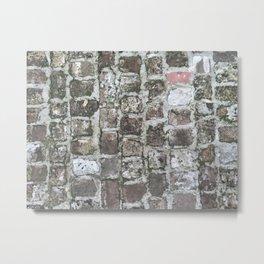 started with 100 bricks Metal Print