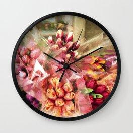 Spoken Without Sound - Flower Art Wall Clock