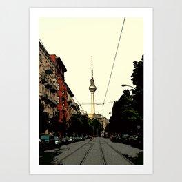 Berlin Retro Art Print