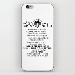 I am a DisneyGirl iPhone Skin