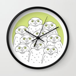 Group of Owls Wall Clock