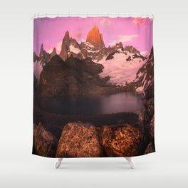 Fitz Roy Sunrise Shower Curtain