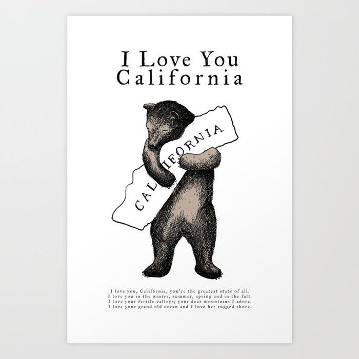 i love you california Kunstdrucke
