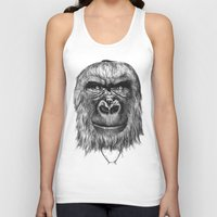 gorilla Tank Tops featuring Gorilla  by Кaterina Кalinich