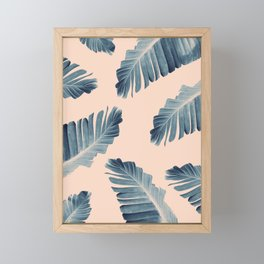 Tropical Banana Leaves Dream #7 #foliage #decor #art #society6 Framed Mini Art Print