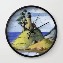 Peaceful Lighthouse IV Wall Clock