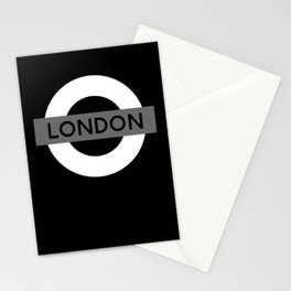 Black and White London Stationery Cards