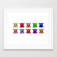 tigers Framed Art Prints featuring Tigers by SMLE™