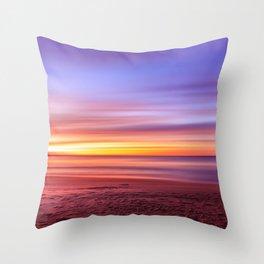 Colour sky beach Throw Pillow