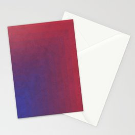 Abstract Rectangle Games - Gradient Pattern between Dark Blue and Moderate Red Stationery Cards