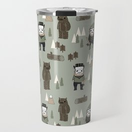 Forest lumberjack and bear nursery kids cute woodland camper gifts Travel Mug