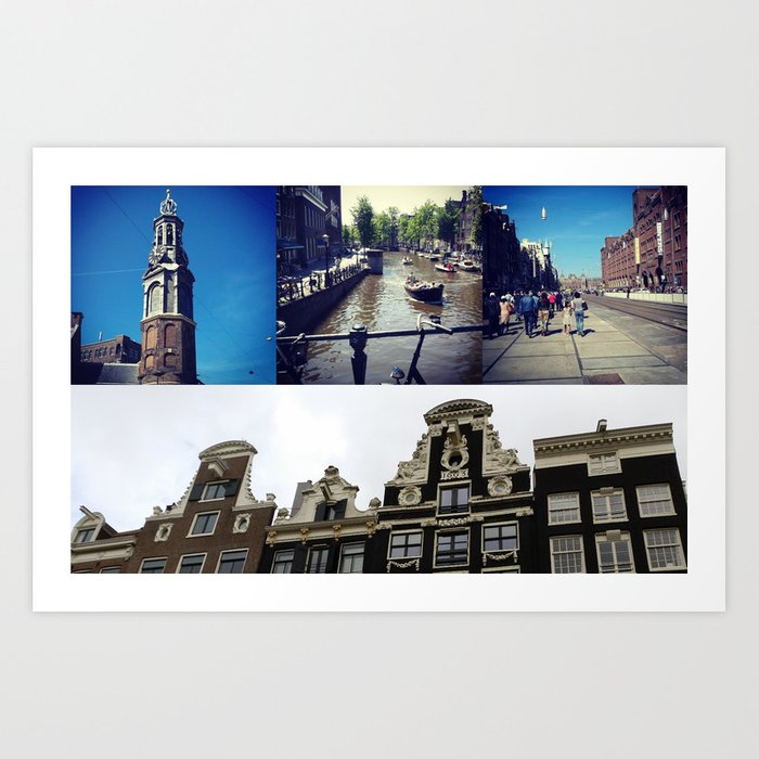 Photo collage Amsterdam 2 Art Print