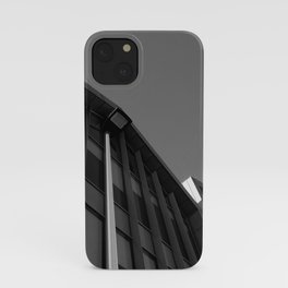 black and white building abstract iPhone Case