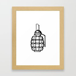 Grenade Framed Art Print