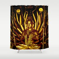 thailand Shower Curtains featuring Thailand by very giorgious