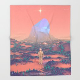 Lost Astronaut Series #02 - Giant Crystal Throw Blanket