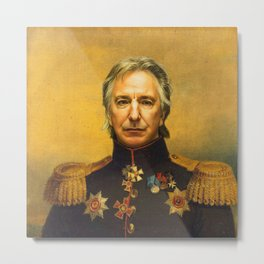 Alan Rickman - replaceface Metal Print