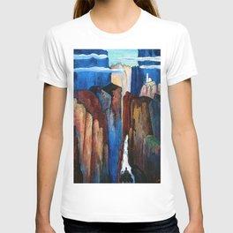 Alpine Verdon Canyon Trail mountain landscape painting by Marianne von Werefkin T-shirt