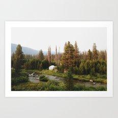 Idaho Camper Art Print