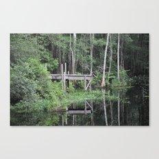 Pond Dock Canvas Print